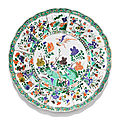 A famille-verte lobed dish, qing dynasty, kangxi period (1662-1722)
