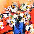 Marguerites au soleil, 73x60 cm