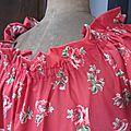 Robe ALBANE en coton rouge à coquelicots (8)