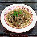 Curry de joues de porc