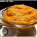 Purée de carottes et lentilles corail au curry