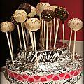 Pièce montée de cake pops