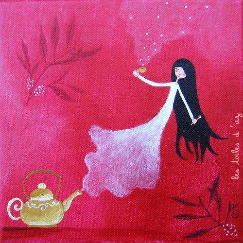 Le thé magique 20x20