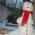 bonhomme de neige supporter