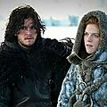Jon Snow (Kit Horington) et Ygritte (Rose Leslie)