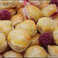 Bouchées banane-framboises