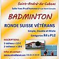 Participation au tournoi de st andré de cubzac (33) - 11/11/2017
