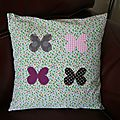Coussin 4 papillons