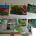L'atelier peinture prépare sa prochaine exposition à saint thibéry