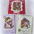 Une série de cartes en 3 d