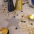 Decoration de table du nouvel an