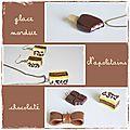 Glace, Napolitains, chocolat et noeud