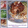 Souris d'agneau rôtie aux gousses d'ail en chemises confites, un plat juste divin, joyeuses fêtes de pâques !