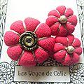 ♥ marline ♥ broche textile hippie chic fleurs potirons - les yoyos de calie