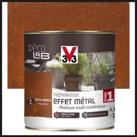 v33 peinture effet metal preparation