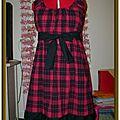 Robe BabyDoll carreaux rouge&noir (commande)