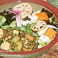 lentilles saucisses tofu-crudites vinaigre de riz