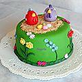 Gâteau de pâques - poules + recap'