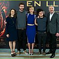 Photo call et avant-première d'hunger games l'embrasement à madrid