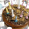 Gâteau d'anniversaire choco-noisette