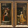 A diptych from the museum voor schone kunsten in ghent on loan to museum in vienna