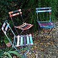 trio de chaises marimerveille fermob peintes à la main 2