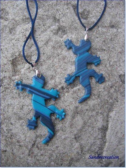 Margouillats bleus