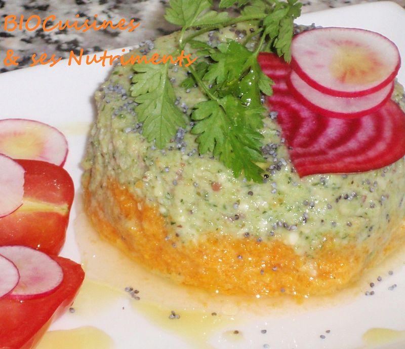 flan carotte & brocoli