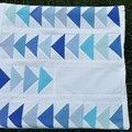 Patchwork de bleus: le vol d'oies (sauvages)!