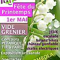 Le 1er mai : fête du printemps et vide-grenier !!!