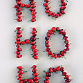 Des baies rouges et des lettres : le diy ho ho ho