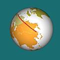 Itinéraire sur une sphère