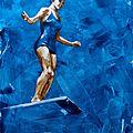Plongeuse bleue