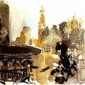 Manhatan vu des toits d'East Village, by night