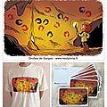 Cartes postales et t-shirts