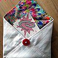 Chouette kit, couture : enveloppe en tissu ck20