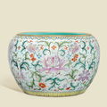 A rare and magnificent large famille rose 'Lotus' bowl, gang, Qianlong period (1736-1795)