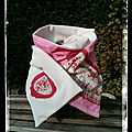 Echarpe blanc rose liberty