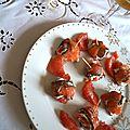 Bouchées au saumon fumé pamplemousse et fromage