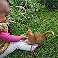 Babys in the garden