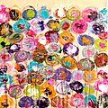 Crayonné 40x40 (fond rose pâle)