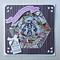 Iris folding : carte d'anniversaire...