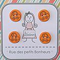 Bouton enfant - voiture orange