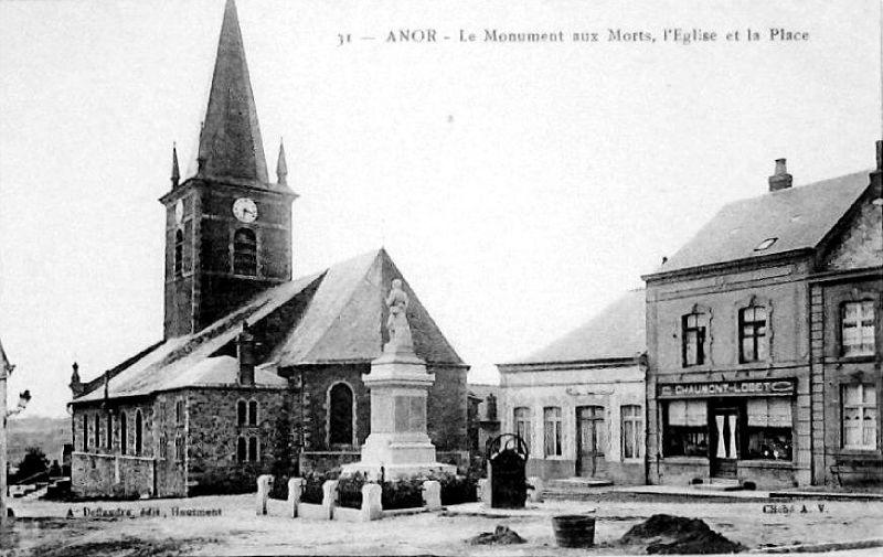ANOR-L'église et la Place