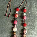 Collier de laine red blush