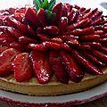 Tarte aux fraises , crème vanille mousseline 🍓
