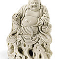 A fine dehua figure of budai, 17th century