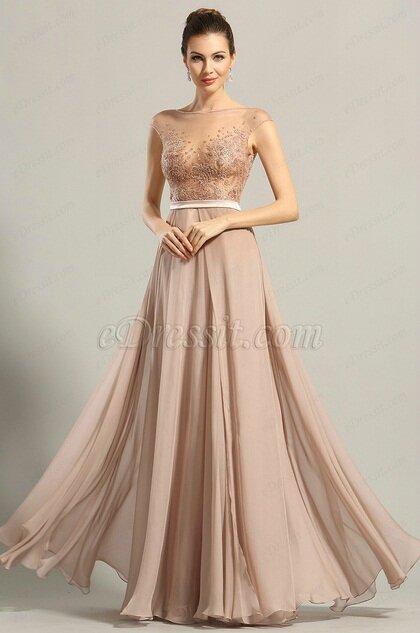 9960a63f61d Robe Cocktail Longue Rose Poudre Robes De Soiree Elegantes