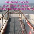 Photos à 70m, au sommet des piliers du Pont Flaubert
