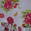 Blouse CERISE en coton blanc imprimé fleurs et oiseaux jaune vert rose (5)